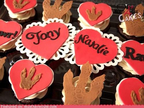 cupcakes dinosaurs epicute hearts love - 6434122752