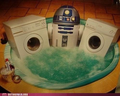 bathtub pimping r2-d2 star wars washing machine - 6434188544