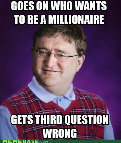 3 bad luck gaben meme who wants to be a million who wants to be a millionaire - 6434200320