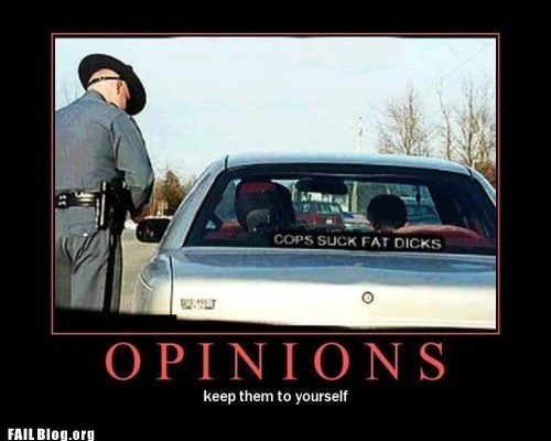 bumper sticker,cop,opinions,police officer