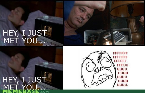 alarm clock,call me maybe,fu guy,Rage Comics