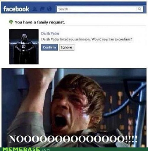 darth vader,facebook,Luke,Memes,star wars
