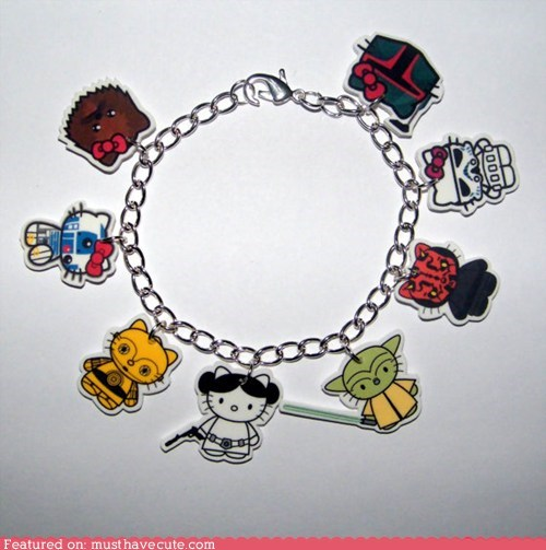 bracelet Charms hello kitty Jewelry star wars - 6434365696