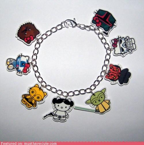 bracelet Charms hello kitty Jewelry star wars - 6434365696