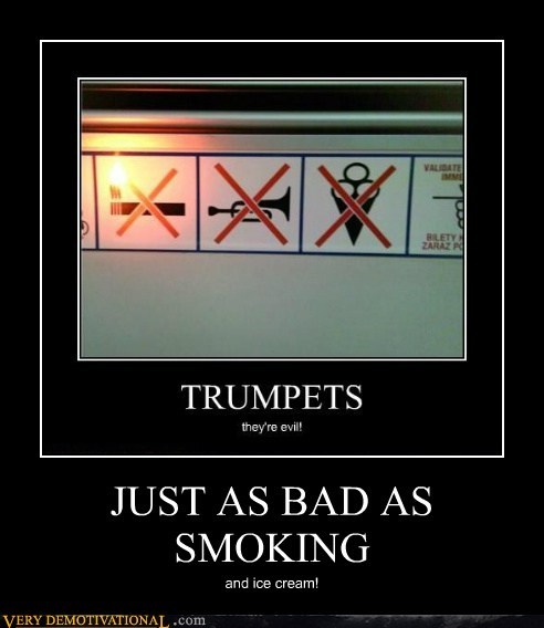 evil,hilarious,ice cream,sign,trumpets