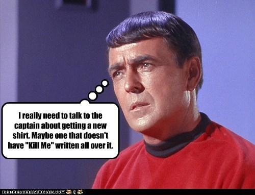 captain james doohan kill me red shirt scotty shirt Star Trek talk the original series - 6434521600