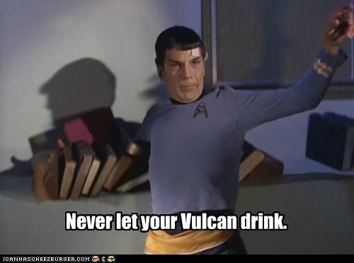 drinking drunk falling Leonard Nimoy Spock Star Trek stumbling Vulcan - 6434567168