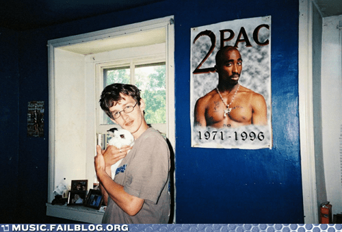 2Pac bunny hip hop poster rap tupac white - 6434775040