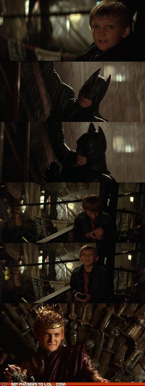 a song of ice and fire batman batman begins best of the week jack gleeson joffrey baratheon oops your fault - 6434818304