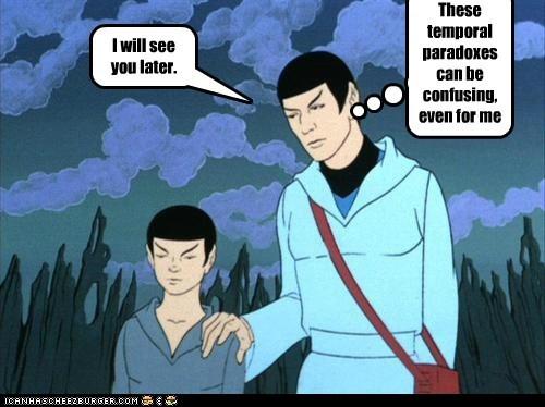 animated series confusing Leonard Nimoy Spock Star Trek time travel Vulcans - 6434841088