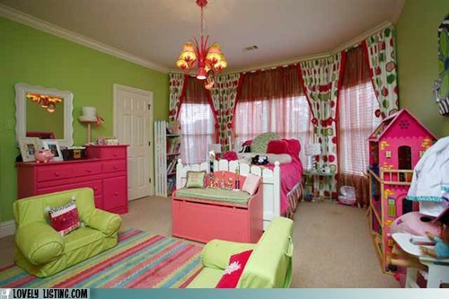 colors decor green paint pink watermelon - 6434861568
