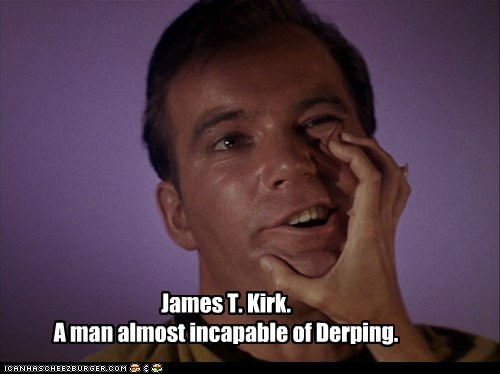 almost Captain Kirk derp face forced incapable Shatnerday Star Trek William Shatner