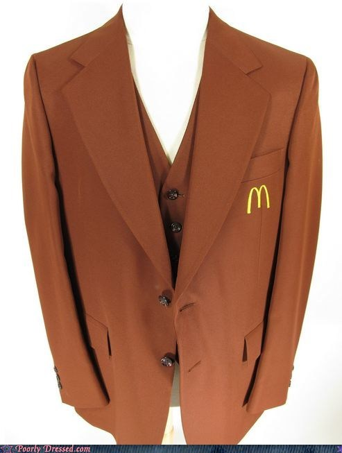 blazer,classy,fast food,McDonald's,suit
