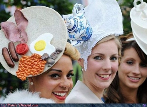 breakfast england hat silly hats what