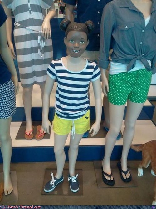 creepy mannequin old navy whoops