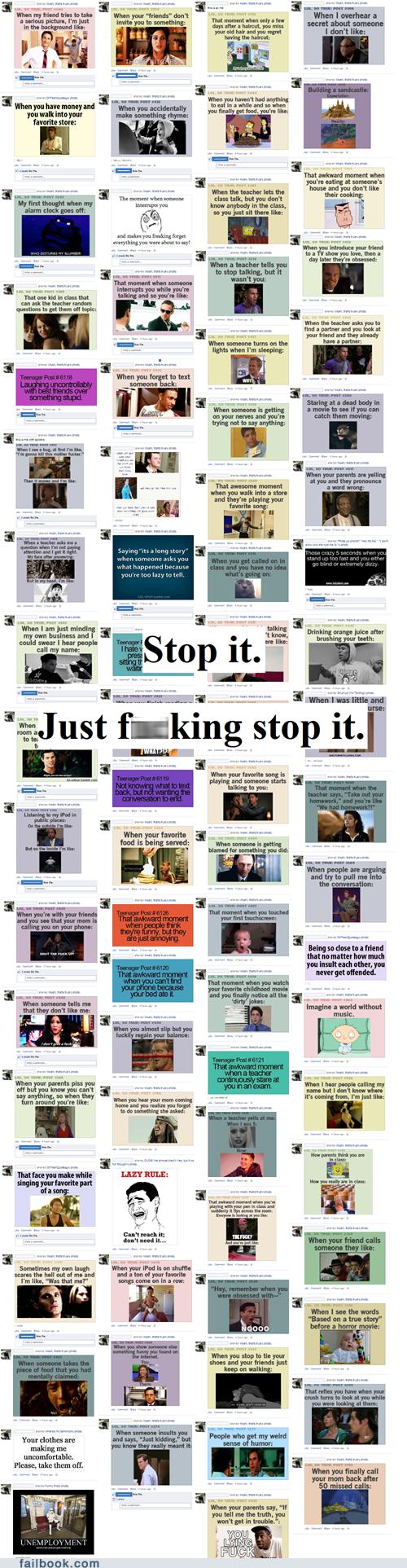 Oversharing,sharing,stop
