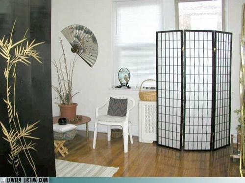 asian concealing decor hiding paper screen - 6435507968