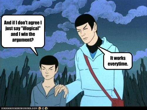 advice argument illogical kid secrets son Spock Star Trek Vulcan - 6435536384