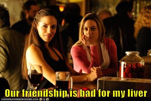 anna silk,bo,Zoie Palmer,Lauren,friendship,bad,liver