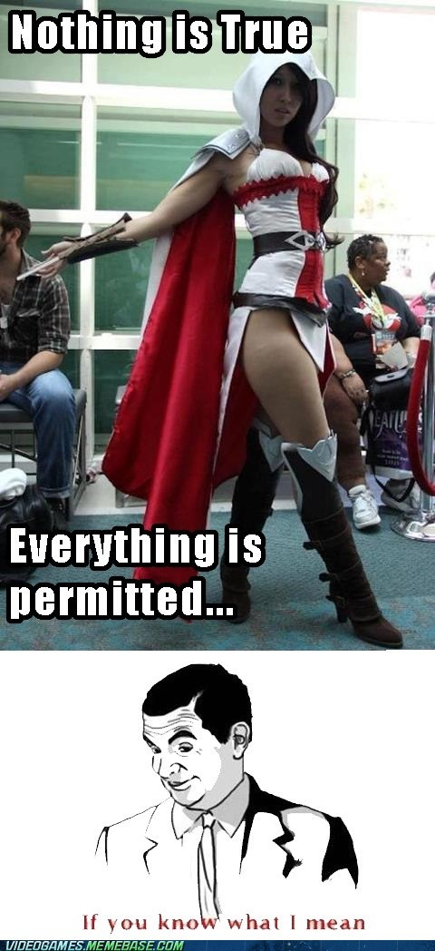 assassins creed code everything is permitted meme - 6435670784