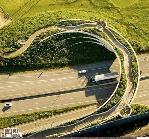 design driving freeway overpass Pedestrian