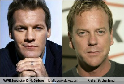 actor,celeb,chris jericho,funny,Kiefer Sutherland,TLL,wwe