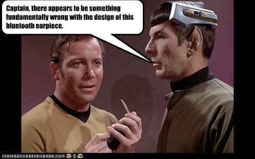 bluetooth,Captain Kirk,design,Leonard Nimoy,Shatnerday,Spock,Star Trek,William Shatner,wrong