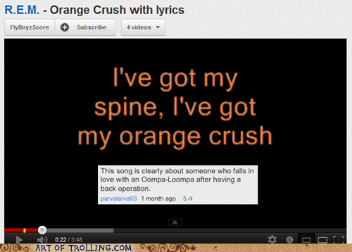 lyrics oompa looma orange crush youtube