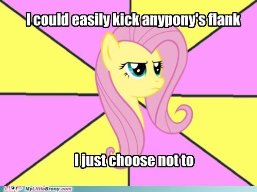 fight fluttershy meme - 6436378112