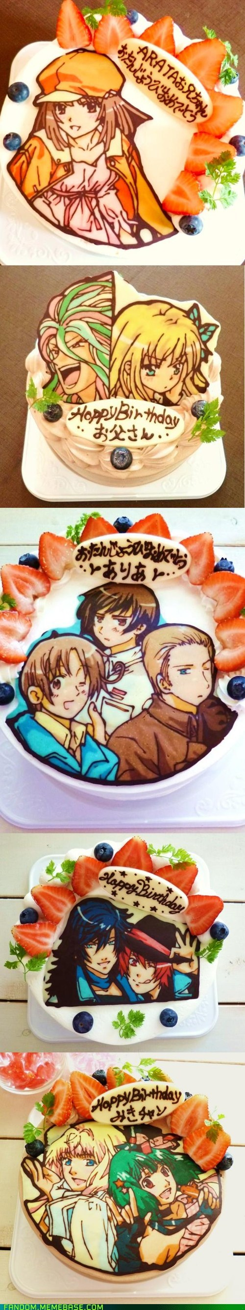 anime cake Fan Art noms - 6436460032