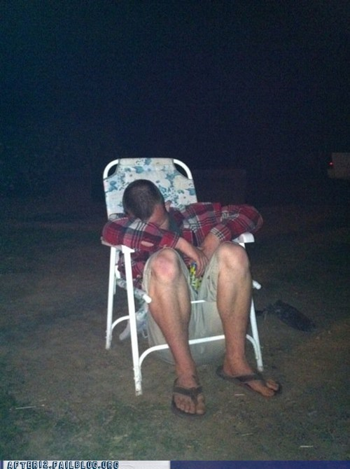 lawn chair passed out unconscious wasted - 6436852480