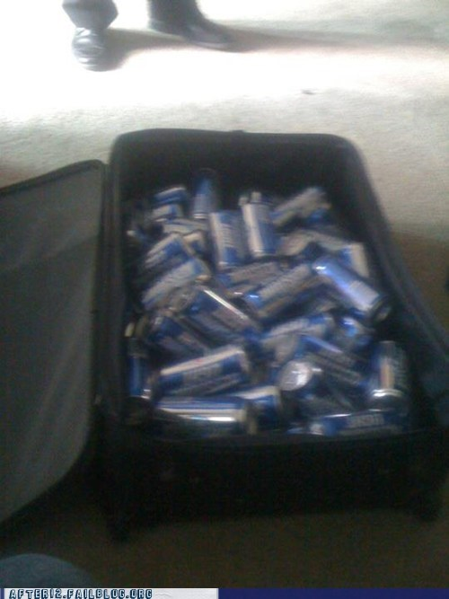 beer can,flight,keystone,keystone light,suitcase