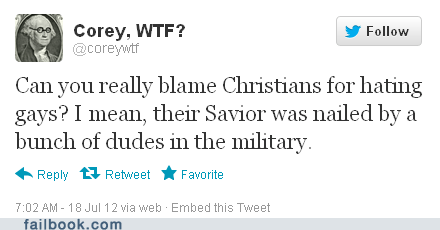 christianity,crucifix,crucifixion,faith,gay marriage,gays,homosexual,LGBT,religion,tweet,twitter