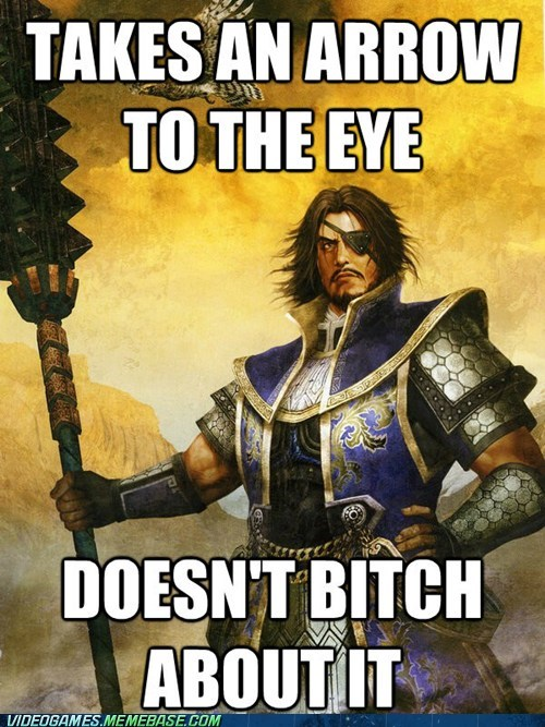 arrow to the knee,dynasty warriors,meme,xiahou dun