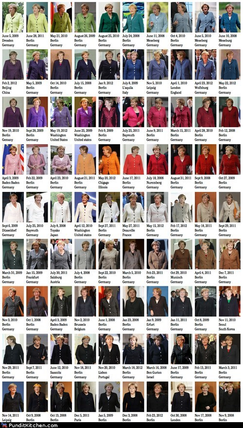 angela merkel color fashion Germany political pictures - 6437018624
