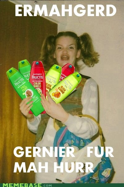 best of week,derp,Ermahgerd,garnier,hair,shampoo