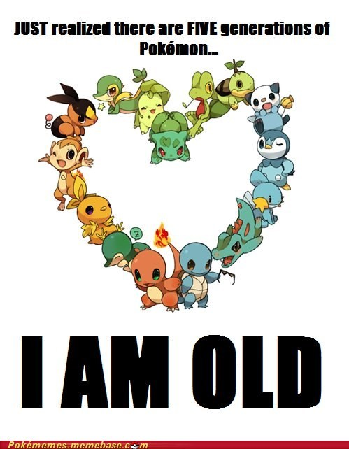 five generations,old,Pokémon,realization,the internets