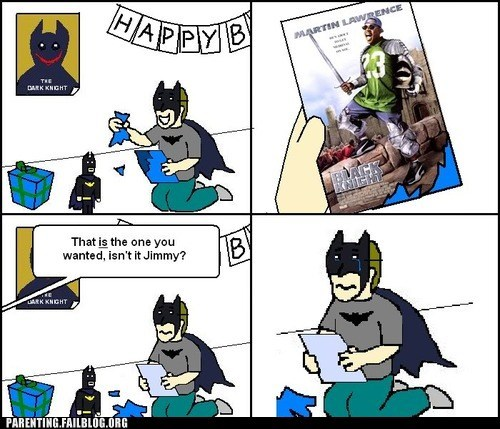 batman,birthday party,black knight,dark knight,martin lawrence