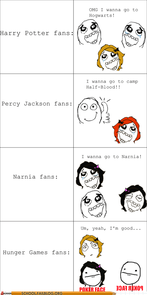 Harry Potter,narnia,percy jackson,hunger games