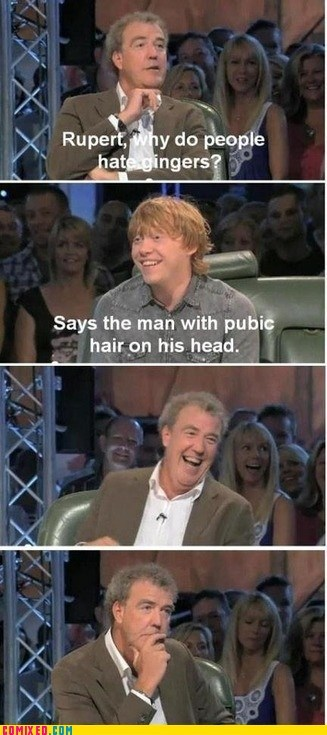 ginger hair jeremy clarkson rupert grint top gear TV - 6437413120