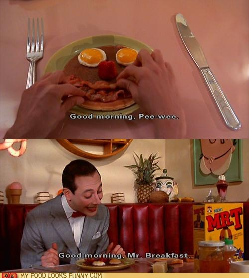 breakfast face Pee-Wee Herman pee-wees-big-adventure