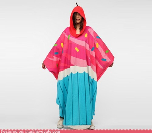 apparel cupcake hood poncho - 6437477632