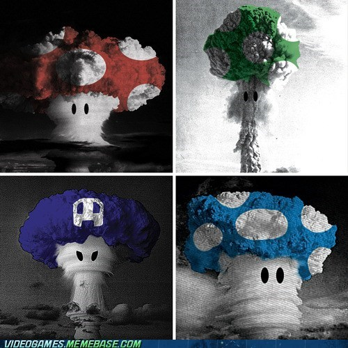 explosion IRL mario mushroom clouds - 6437633536