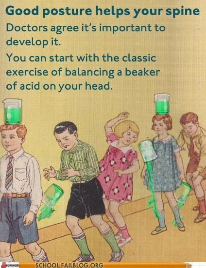 beaker of acid doctors agree good posture high stakes - 6437672448