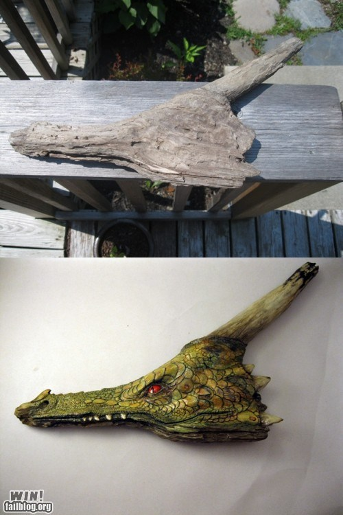 art design dragon driftwood wood