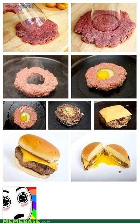eggs hamburger Memes noms sandwich - 6437895936