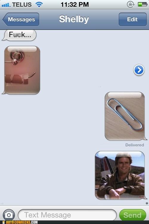 atuocowrecks,iPhones,mcguyver,paperclip,toilet paper