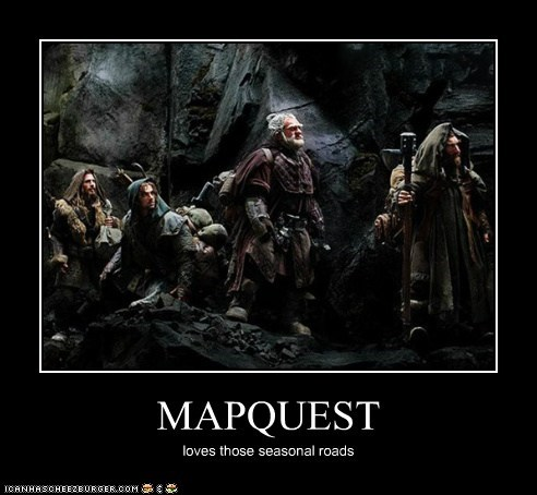 directions,dwarves,mapquest,route,seasonal,The Hobbit
