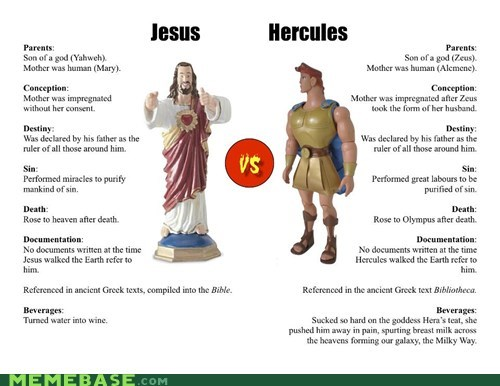 best of week comparison god Hercules infographic jesus Zeus - 6438209536