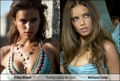adriana lima,celeb,funny,Irina Shayk,model,TLL